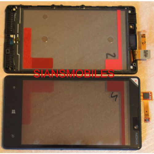 purchase cheap 4db15 a0281 Nokia Lumia 825 Original Front Cover Digitizer Touch Pad Screen