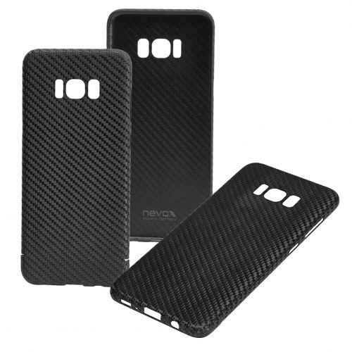 brand new c196a 4304c Samsung Galaxy S8 G950F Real Original Carbon Fibre Strong Luxury Case Cover  Nevox