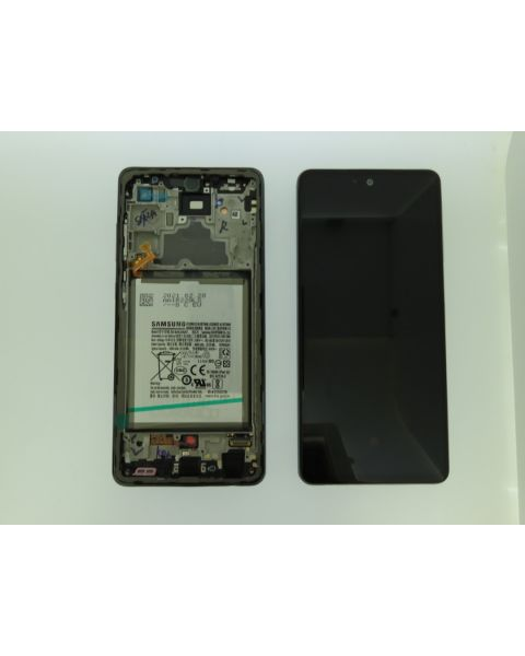 Samsung Galaxy A72 A725 Lcd Touch Screen Display Complete Original Genuine Black Replacement + Battery