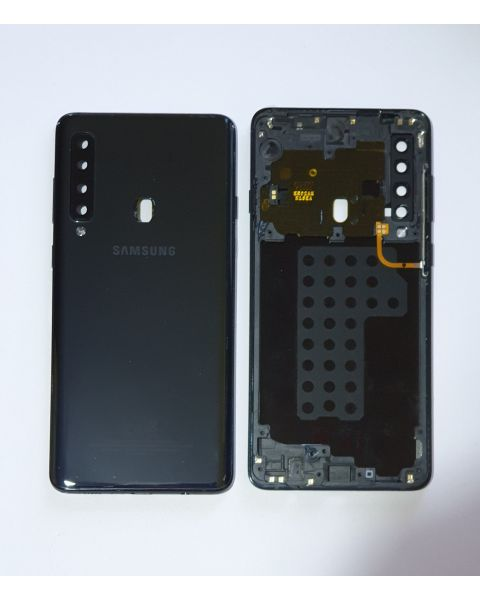 14 DAY Samsung Galaxy A9 A920F Battery Cover Back Housing Chassis Frame Fascia 100% Original Genuine Black LIKE NEW
