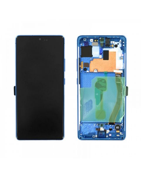 Samsung Galaxy S10 Lite SM-G770F Lcd Touch Screen Display Complete Original Genuine Blue With Frame