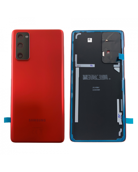 Samsung Galaxy S20 FE SM-G780F G781 Battery Cover Back Housing Fascia 100% Original Genuine From Samsung UK Cloud Red