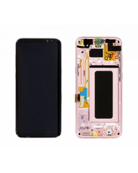 Samsung Galaxy S8 SM-G950F Lcd Touch Screen Display Complete Original Genuine Pink With Frame