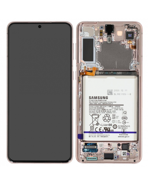 Samsung Galaxy S21+ 5G G996 Lcd Touch Screen Display Complete Original Genuine Phantom Violet With Frame