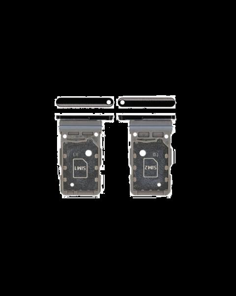 Samsung Galaxy S21 Ultra 5G G988 Dual Sim Card Holder Sim Tray Original Genuine Replacement Black