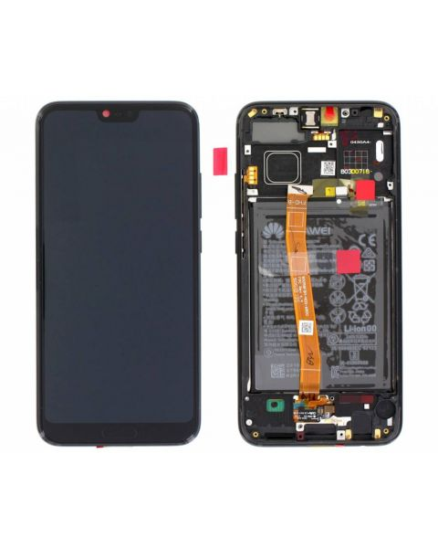 Huawei Honor 10 Lcd Screen Display Digitizer Touch Original Genuine Complete Replacement Black With Battery + Frame