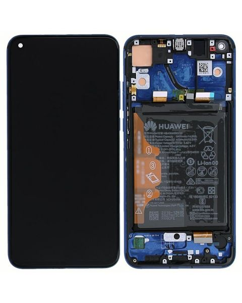 Huawei Honor View 20 Lcd Screen Display Digitizer Touch Original Genuine Complete Replacement Blue With Battery + Frame