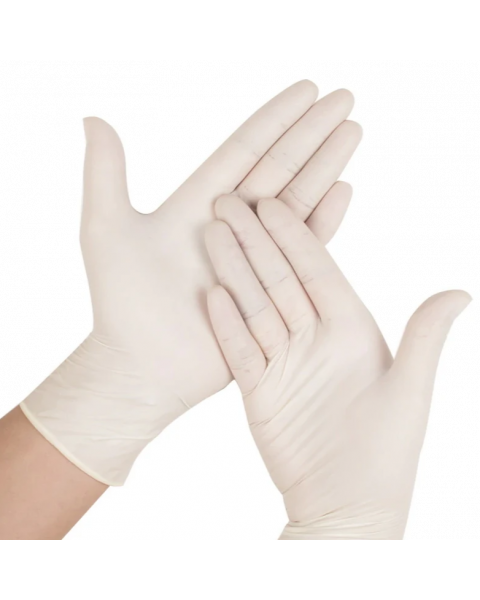 100X LATEX SOFT WHITE LARGE GLOVES HOSPITAL MEDICAL SURGICAL PROTECTION PPE OFFICE FACTORY WORKWEAR