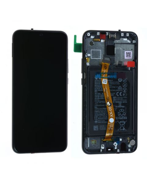 Huawei Mate 20 Lite Lcd Screen Display Digitizer Touch Original Genuine Complete Replacement Black With Battery + Frame