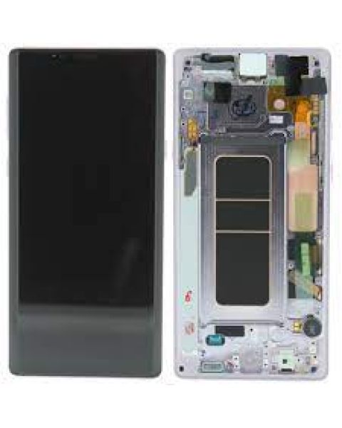 Samsung Galaxy Note 9 SM-N960F Lcd Touch Screen Display Complete Original Genuine White With Frame