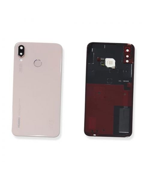 14 DAY Huawei P20 Lite Back Rear Battery Cover Original Genuine Complete Replacement Pink + Fingerprint Reader LIKE NEW