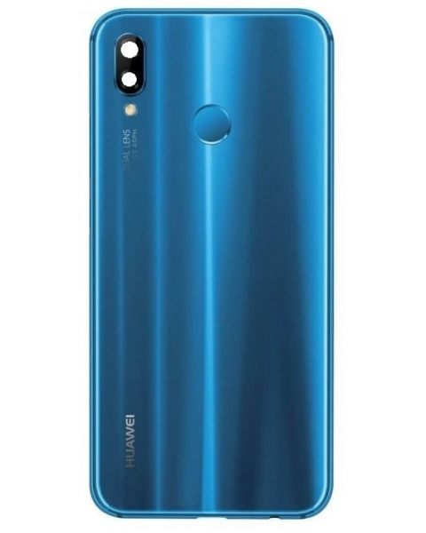 14 DAY Huawei P20 Lite Back Rear Battery Cover Original Genuine Complete Replacement Blue + Fingerprint Reader LIKE NEW