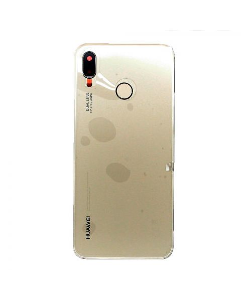 14 DAY Huawei P20 Lite Back Rear Battery Cover Original Genuine Complete Replacement Gold + Fingerprint Reader LIKE NEW