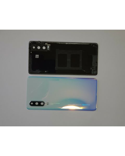 14 DAY Huawei P30 Back Rear Battery Cover Chassis Frame Housing Original Genuine Complete Replacement Breathing Crystal Like New