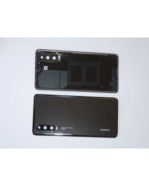 14 DAY Huawei P30 Back Rear Battery Cover Chassis Frame Housing Original Genuine Complete Replacement Black Like New
