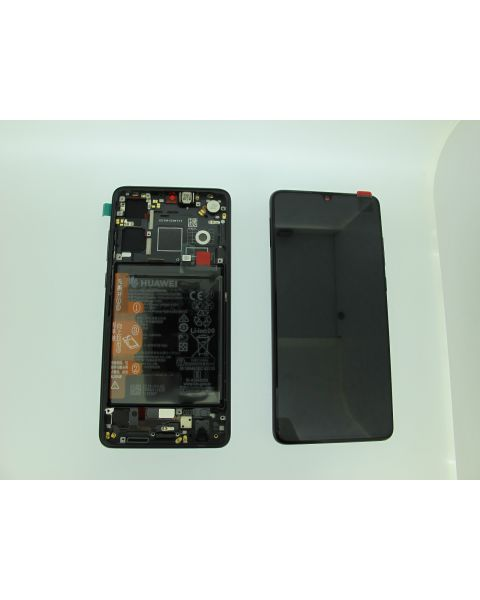 Huawei P30 Lcd Screen Display Digitizer Touch Original Genuine Complete Replacement Black With Battery + Frame
