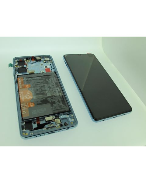 Huawei P30 Lcd Screen Display Digitizer Touch Original Genuine Complete Replacement Breathing Crystal With Battery + Frame
