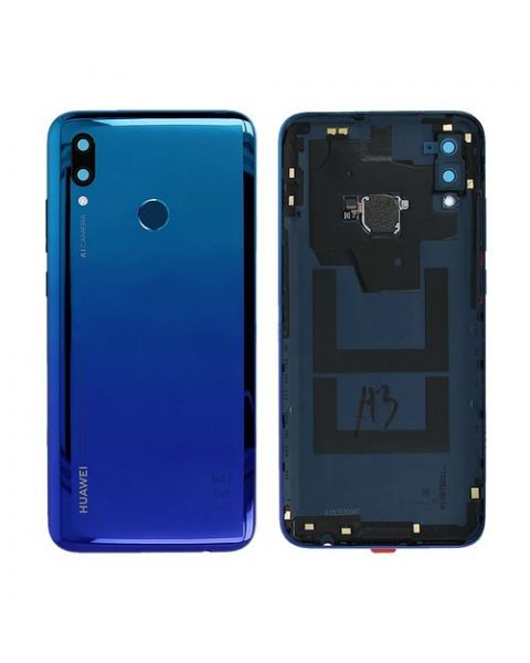Huawei P Smart 2019 Back Rear Battery Cover Chassis Frame Housing Original Genuine Complete Replacement Aura Blue Like New
