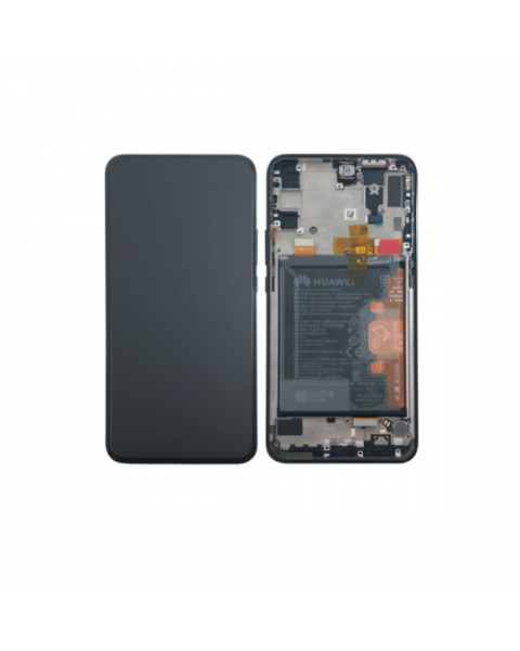 Huawei P Smart Z Lcd Screen Display Digitizer Touch Original Genuine Complete Replacement Black With Battery + Frame