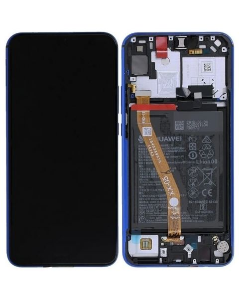Huawei P Smart Z Lcd Screen Display Digitizer Touch Original Genuine Complete Replacement Blue With Battery + Frame
