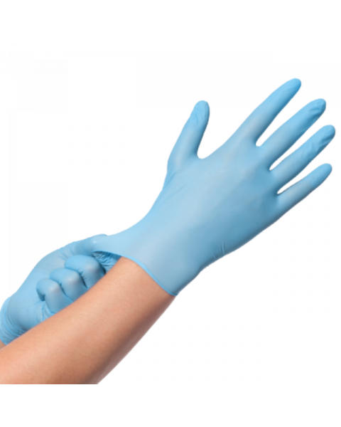 100X VINLY SUPER STRONG BLUE EXTRA LARGE L GLOVES HOSPITAL MEDICAL SURGICAL PROTECTION PPE FACTORY OFFICE POWDER FREE