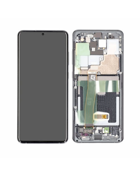 Samsung Galaxy S20 Ultra Lcd Touch Screen Display Complete Original Genuine Grey With Frame