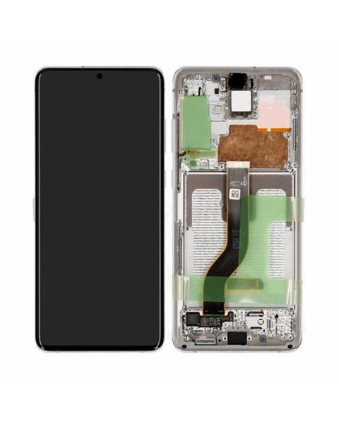 Samsung Galaxy S20+ S20 Plus G986 Lcd Touch Screen Display Complete Original Genuine White With Frame