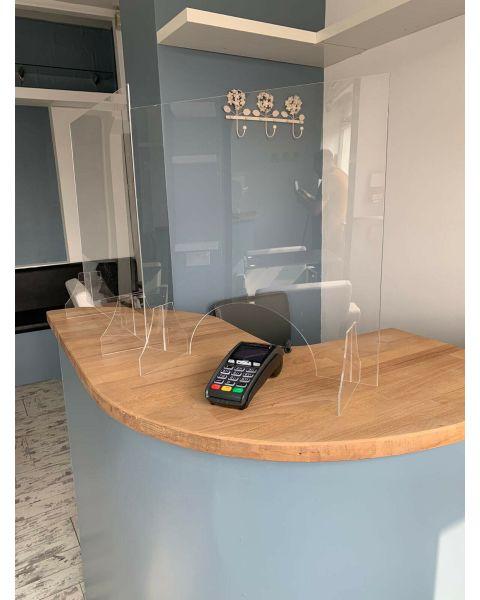 Sneeze Screen Cough Shield Strong Acrylic Glass Plastic Virus Shield Cashier Protection Shop Gaurd 500mm x 500mm