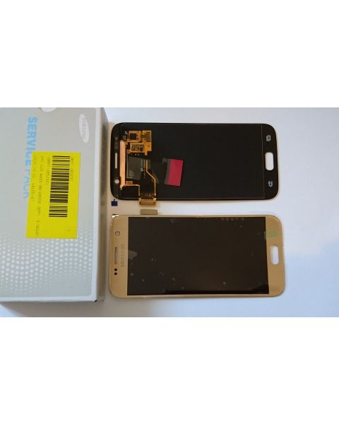 Samsung Galaxy S7 SM-G930F Lcd Touch Screen Display Complete Original Genuine Gold