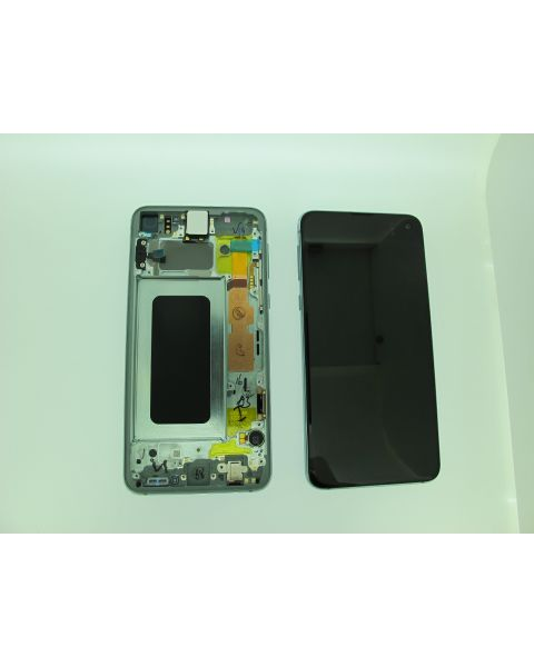 Samsung Galaxy S10E SM-G970F Lcd Touch Screen Display Complete Original Genuine Prism Green With Frame