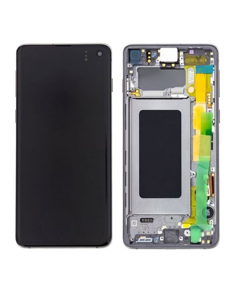Samsung Galaxy S10 SM-G973F Lcd Touch Screen Display Complete Original Genuine Prism Black With Frame