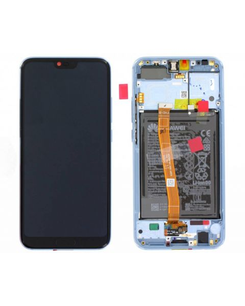 Huawei Honor 10 Lcd Screen Display Digitizer Touch Original Genuine Complete Replacement Grey With Battery + Frame