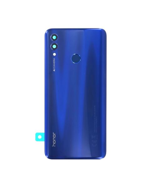 Huawei Honor 10 Lite Back Rear Battery Cover Chassis Frame Housing Original Genuine Complete Replacement Sapphire Blue + Fingerprint Reader