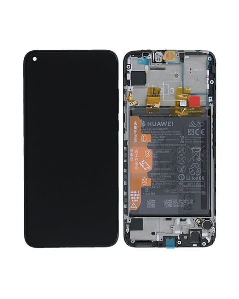 Huawei P Smart 2019 Lcd Screen Display Digitizer Touch Original Genuine Complete Replacement Black With Battery + Frame