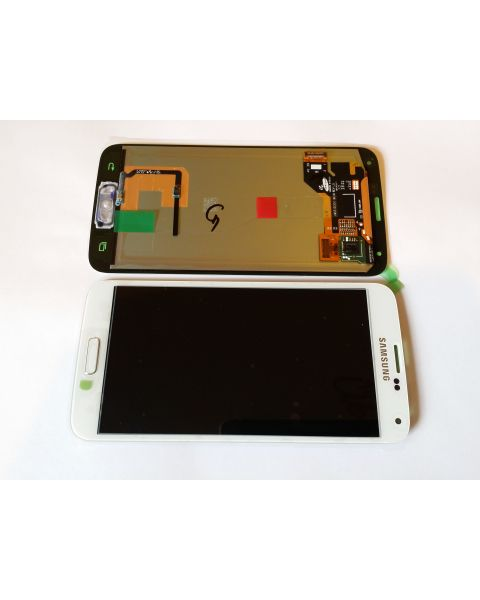 Samsung Galaxy S5 SM-G900F Lcd Touch Screen Display Complete Original Genuine White Replacement