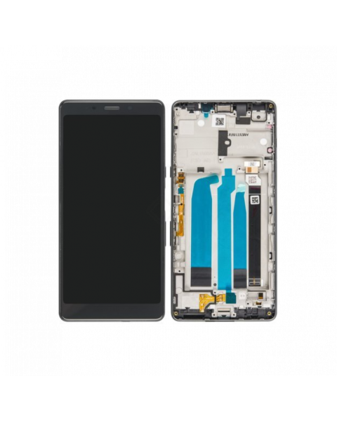 Sony Xperia L3 Lcd Screen Display Digitizer Touch Original Genuine Complete Silver With Frame From Sony